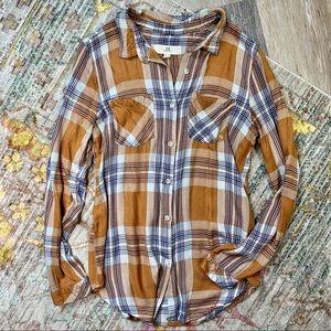 Thread and Supply Plaid Button Down Shirt